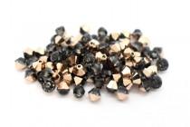 Crystal Rose Gold Swarovski Crystal Bicone Beads 5328