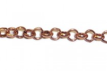 Copper  Plate ( Bright ) Rolo Chain