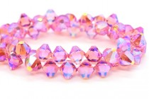 Rose AB2x Swarovski Crystal Top Drilled Bicone Pendants 6301