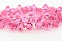 Rose Swarovski Crystal Top Drilled Bicone Pendants 6301