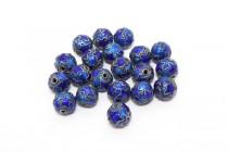 Enamel Cobalt Blue Star - Round