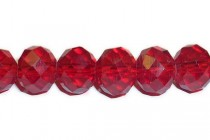 Red Chinese Crystal Rondelle Glass Beads