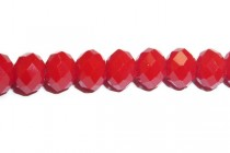 Red Opaque Chinese Crystal Rondelle Glass Beads