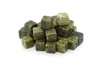 Russian Serpentine (Natural) Cube Gemstone Beads