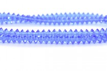 Bead,Swarovski crystals,sapphire ,faceted Flat Bicone Rondelle Spacer,5305.