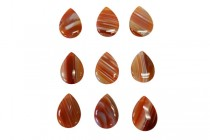 Sardonyx (Natural) A Grade Top Drilled Flat Briolette Gemstone Bead