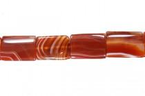 Sardonyx (Dyed) Flat Rectangle Gemstone Beads