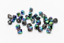 Crystal Scarabaeus Green Swarovski Crystal Bicone Beads 5301/5328