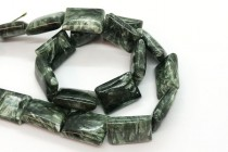 Seraphinite (Natural) Flat Rectangle Gemstone Beads