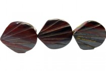 Tiger Iron (Natural) Seashell Gemstone Beads