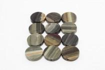 Silver Leaf Jasper (Natural) Coin Gemstone Beads