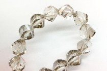 Bead, Swarovski®  crystals, crystal Silver Shade faceted helix (5020).