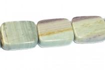 Silver Mist Jasper (Natural) Flat Rectangle Gemstone Beads