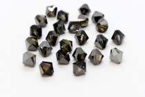 Crystal Silver Night Swarovski Crystal Bicone Beads 5301/5328