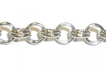 Rhodium Double Rolo Link Chain 3.8mm