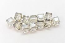 Crystal Silver Shade 5601 Swarovski Crystal Cube Bead