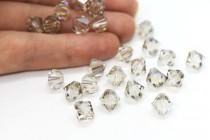Crystal Silver Shade Swarovski Crystal Bicone Beads 5301/5328