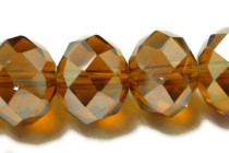 Brown Topaz ( Dark ) AB Chinese Crystal Rondelle Glass Beads