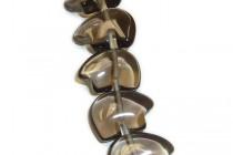 Smoky Quartz (Irradiated) Zuni Bear Gemstone Beads