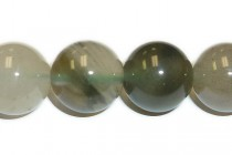 Agate Natural (Grey Green) Round Gemstone Beads