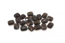 Smoky Quartz (Irradiated) Faceted Flat Rectangle Gemstone Beads