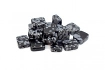 Snowflake Obsidian (Natural) Flat Rectangle Gemstone Beads