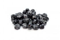 Snowflake Obsidian (Natural) Six Sided Drum Gemstone Beads