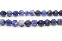 Sodalite (Natural) Faceted Round Gemstone Beads