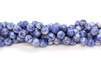 Sodalite (Natural) Faceted Disco Cut Round Gemstone Beads - 8mm