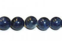 Sodalite (Natural) A Grade Big Hole Round Gemstone Beads