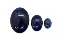 Sodalite (Natural) Oval Flat Back Gemstone Cabochon