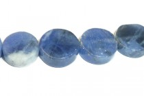 Sodalite (Natural) Coin Gemstone Beads