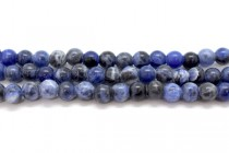 Sodalite (Natural) Smooth Round Gemstone Beads - Large Hole
