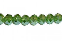 Green Fern AB Chinese Crystal Rondelle Glass Beads