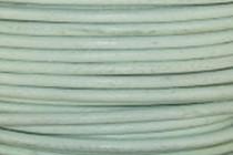 Greek Round Leather Cord - Sea Foam Green