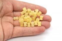 Yellow Calcite (Coated) Spool Gemstone Beads