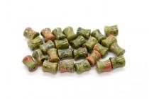 Unakite (Natural) Spool Gemstone Beads