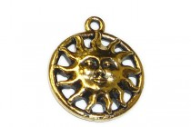 Antique Gold Plated Sunshine Pendant - TierraCast®
