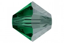 Emerald Satin 5301/5328 Swarovski Crystal Bicone Beads - Factory Pack Quantity
