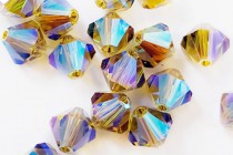 Lime AB 2X 5301/5328 Swarovski Crystal Bicone Beads - Factory Pack Quantity