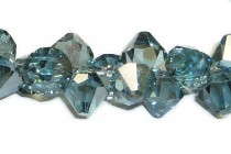 Aqua Satin 6301 Swarovski Crystal Bicone Pendant