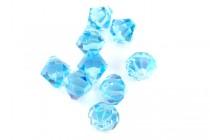 Aquamarine AB 6301 Swarovski Crystal Bicone Pendant