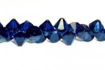 Dark Indigo Swarovski Crystal Top Drilled Bicone Pendants 6301