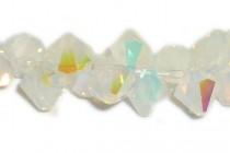 White Opal AB 6301 Swarovski Elements Crystal Bicone Pendant
