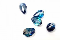 Bead, Crystal bermuda Blue ,Swarovski Crystals, Faceted Crystal Teardrop (5500).