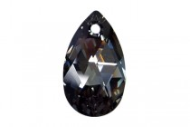 Crystal Silver Night Swarovski Crystal Faceted Pear Pendant 6106