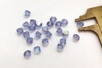 Light Tanzanite AB  5301 Swarovski Elements Crystal Bicone Bead