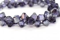 Tanzanite Satin Swarovski Crystal Top Drilled Bicone Pendants 6301