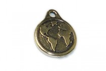 Antique Silver Plated Earth Charm - TierraCast®