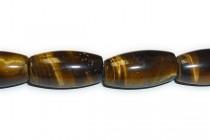 Tiger Eye( natural ) A Grade Big Hole Oval Rice Gemstone Beads